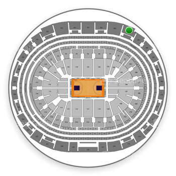Los Angeles Lakers at Staples Center Section 304 View