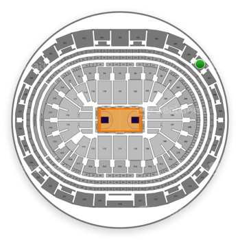 Los Angeles Lakers at Staples Center Section 306 View