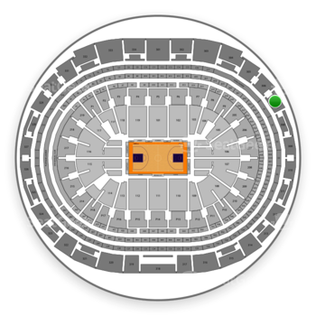 Los Angeles Lakers at Staples Center Section 307 View