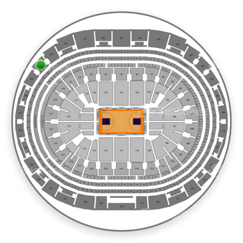 Los Angeles Lakers at Staples Center Section 330 View