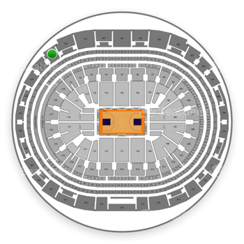 Los Angeles Lakers at Staples Center Section 331 View