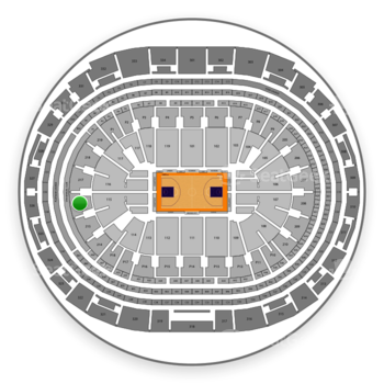 Los Angeles Sparks at Staples Center Section 216 View