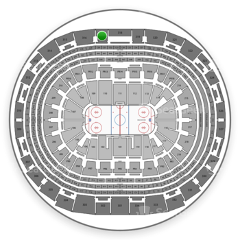 Los Angeles Kings at Staples Center Section 317 View