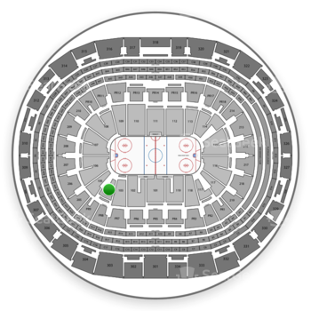 Los Angeles Kings at Staples Center Section 104 View