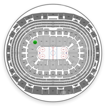 Los Angeles Kings at Staples Center Section 108 View