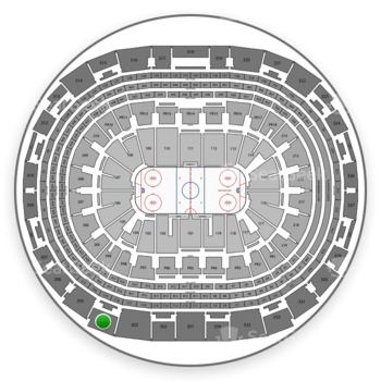 Los Angeles Kings at Staples Center Section 304 View