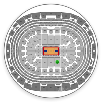 Los Angeles Clippers at Staples Center Section 119 View