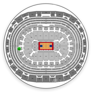 Los Angeles Clippers at Staples Center Section 207 View