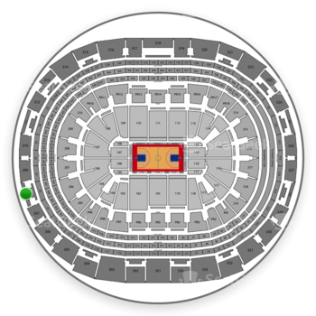 Los Angeles Clippers at Staples Center Section 308 View