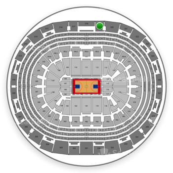 Los Angeles Clippers at Staples Center Section 319 View