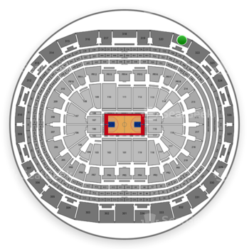 Los Angeles Clippers at Staples Center Section 321 View