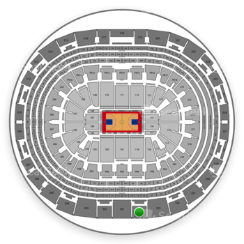 Los Angeles Clippers at Staples Center Section 334 View