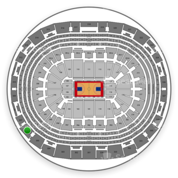 Los Angeles Clippers at Staples Center Section 306 View