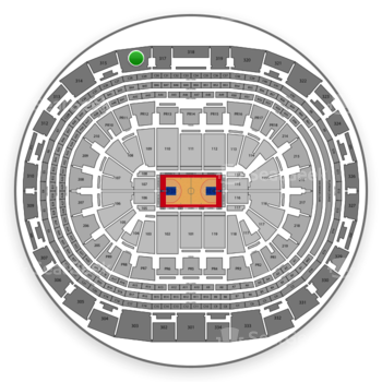 Los Angeles Clippers at Staples Center Section 316 View