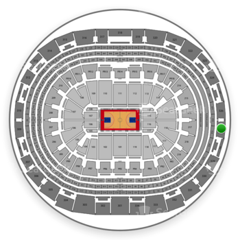 Los Angeles Clippers at Staples Center Section 327 View