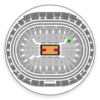 Los Angeles Clippers at Staples Center Section 105 View