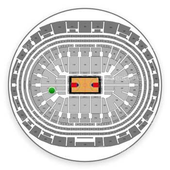 Los Angeles Clippers at Staples Center Section 115 View