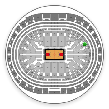 Los Angeles Clippers at Staples Center Section 206 View