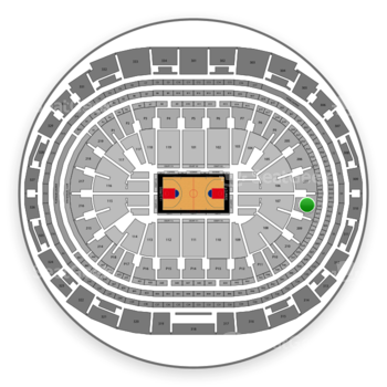 Los Angeles Clippers at Staples Center Section 208 View
