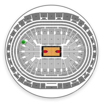 Los Angeles Clippers at Staples Center Section 218 View