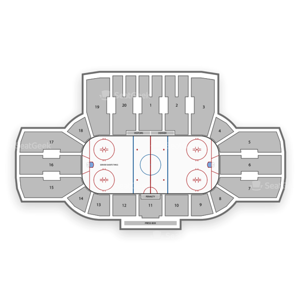 Magness Arena Seating Chart NHL