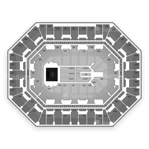 Target Center seating chart Cher
