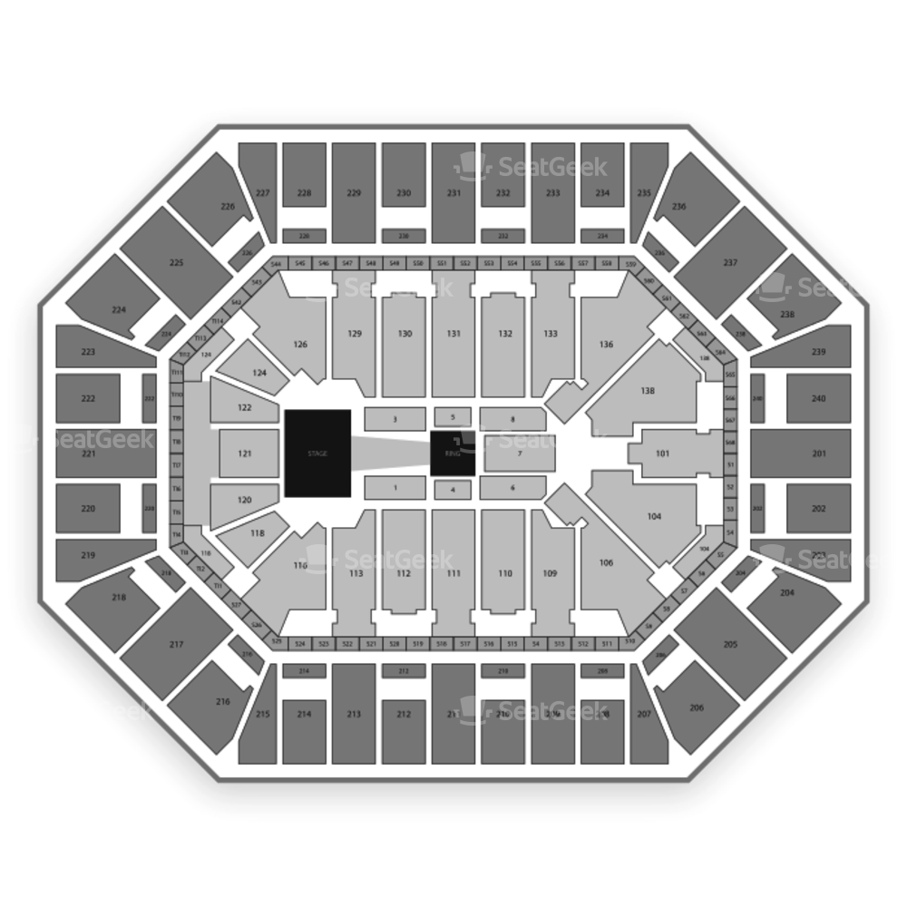 Target Center Seating Chart Wwe