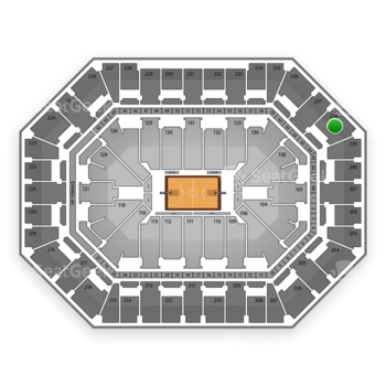 Minnesota Timberwolves at Target Center Section 238 View