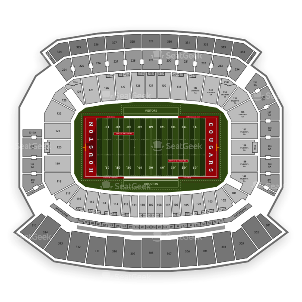 TDECU Stadium Seating Chart NCAA Football