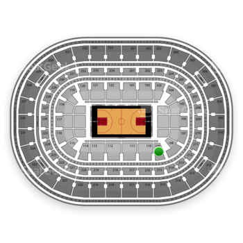 Chicago Bulls at United Center Section 109 View