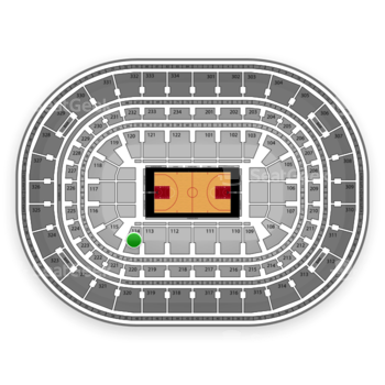 Chicago Bulls at United Center Section 114 View