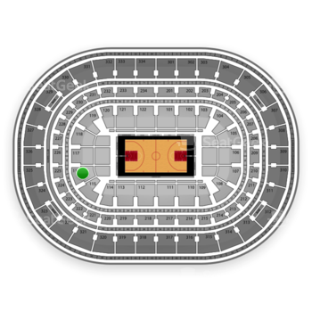 Chicago Bulls at United Center Section 116 View
