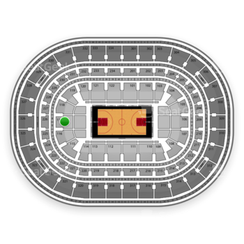 Chicago Bulls at United Center Section 117 View