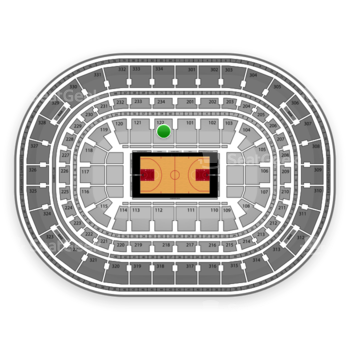 Chicago Bulls at United Center Section 122 View