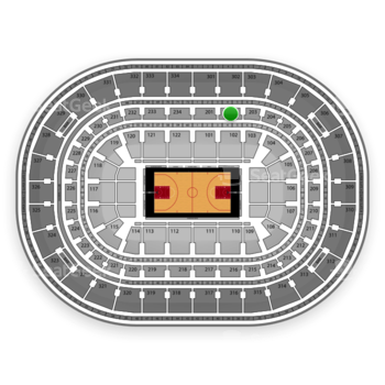 Chicago Bulls at United Center Section 202 View