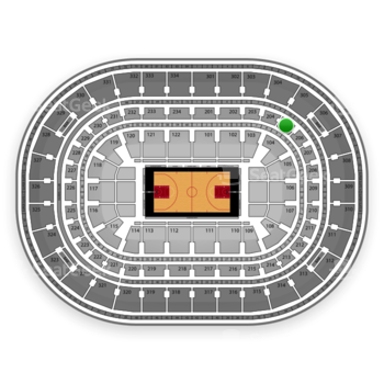 Chicago Bulls at United Center Section 205 View