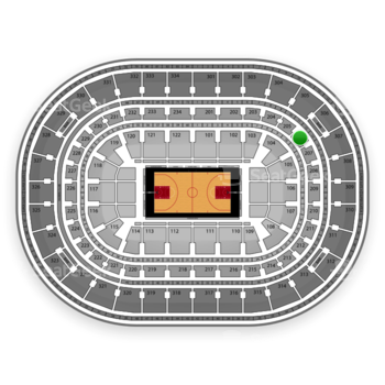 Chicago Bulls at United Center Section 206 View