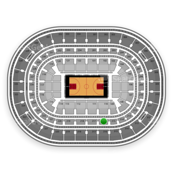 Chicago Bulls at United Center Section 216 View