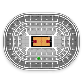 Chicago Bulls at United Center Section 218 View