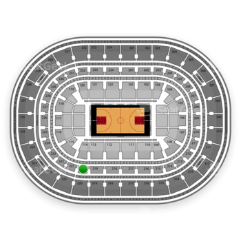 Chicago Bulls at United Center Section 220 View