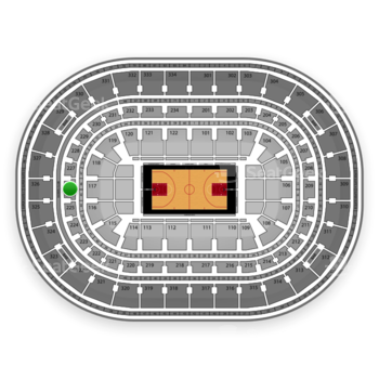 Chicago Bulls at United Center Section 226 View
