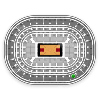 Chicago Bulls at United Center Section 314 View