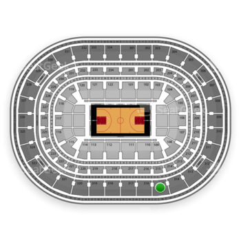 Chicago Bulls at United Center Section 315 View