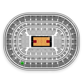 Chicago Bulls at United Center Section 321 View
