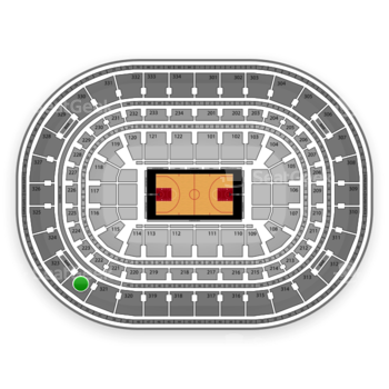 Chicago Bulls at United Center Section 322 View