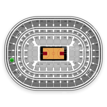 Chicago Bulls at United Center Section 325 View