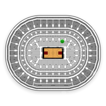 Chicago Bulls at United Center Section 102 View