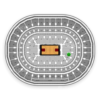 Chicago Bulls at United Center Section 107 View