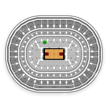 Chicago Bulls at United Center Section 121 View