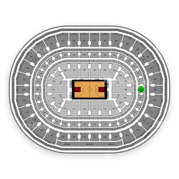 Chicago Bulls at United Center Section 209 View
